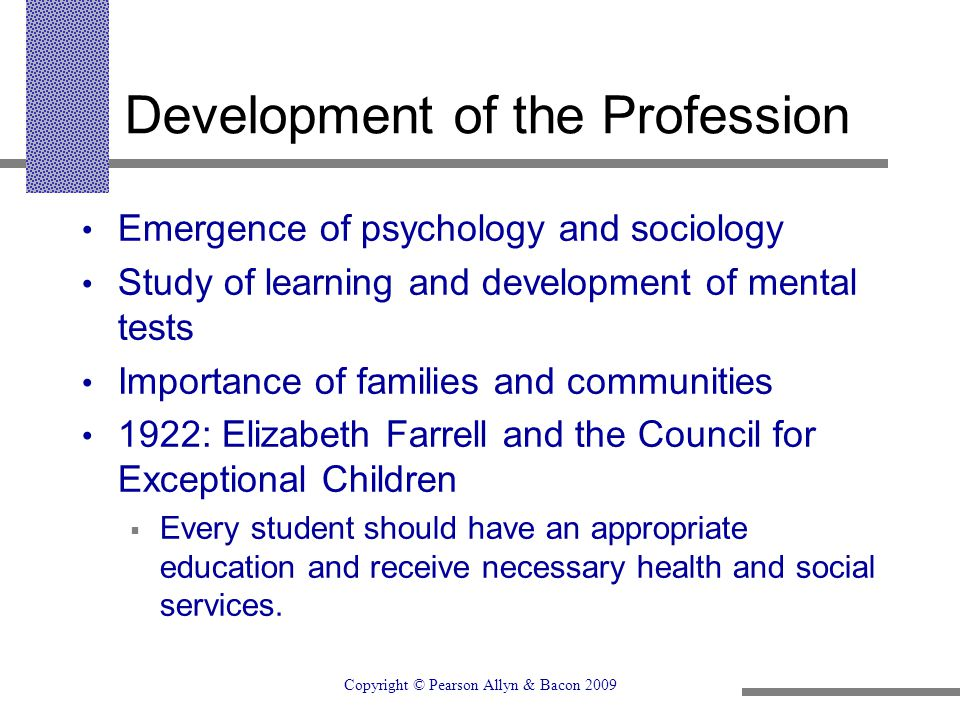 Development of the Profession
