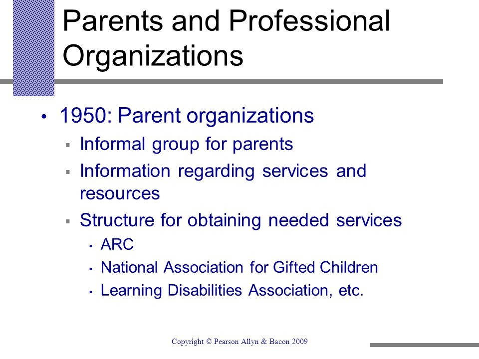 Parents and Professional Organizations