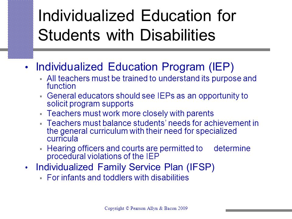 Individualized Education for Students with Disabilities