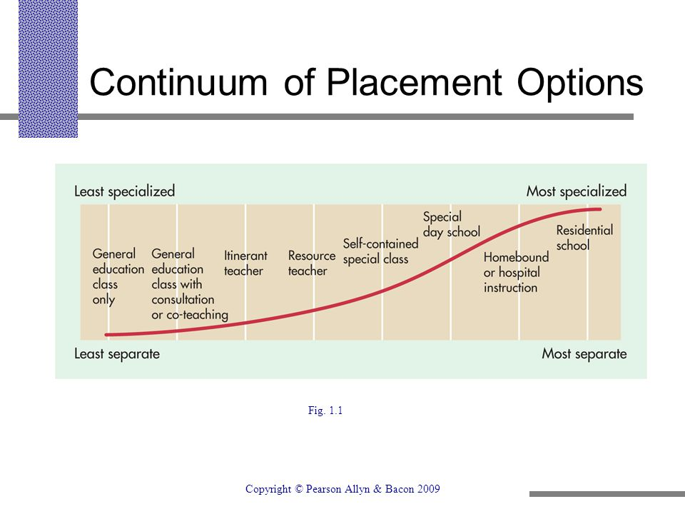 Continuum of Placement Options