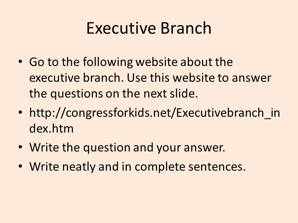 3 branches of government diagram ppt video online download executive branch go to the following website about the executive branch use this website to ccuart Image collections