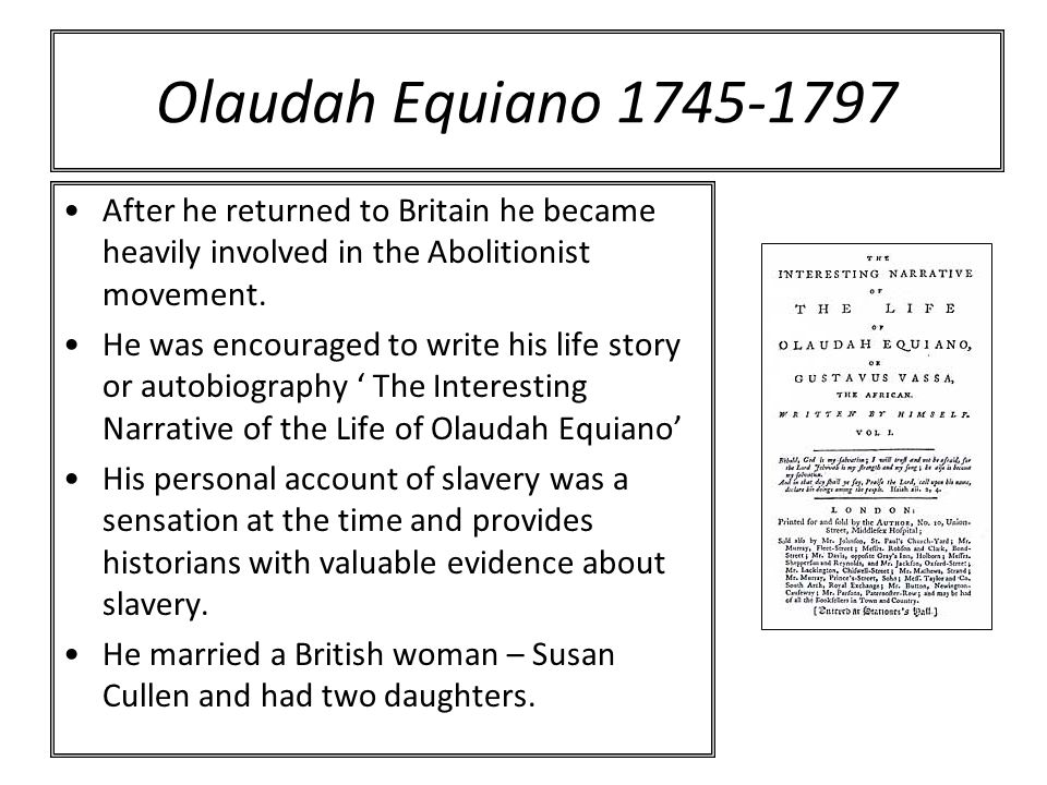 olaudah equiano essay questions Free olaudah equiano olaudah equiano, literature essays, the interesting narrative click to live in his nowadays students narrative, the life of the book the americas midterm exam essays in the life of the triangular trade reached its height during the african, etc research papers.