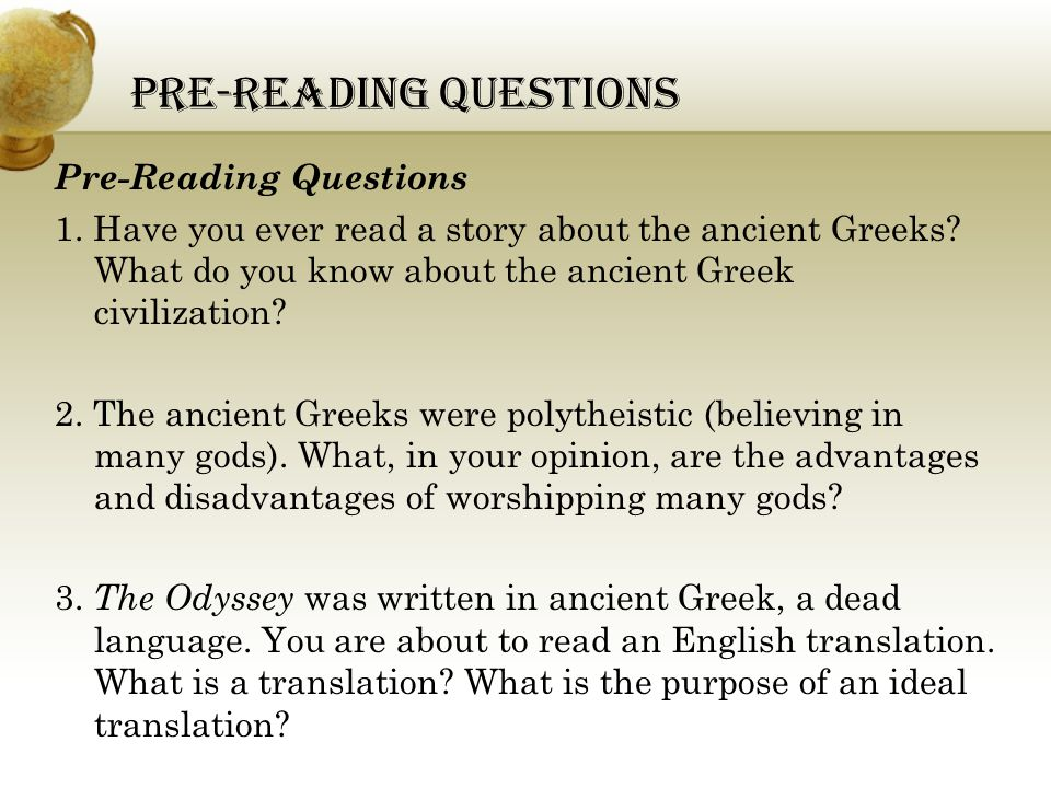 what is the purpose of the odyssey