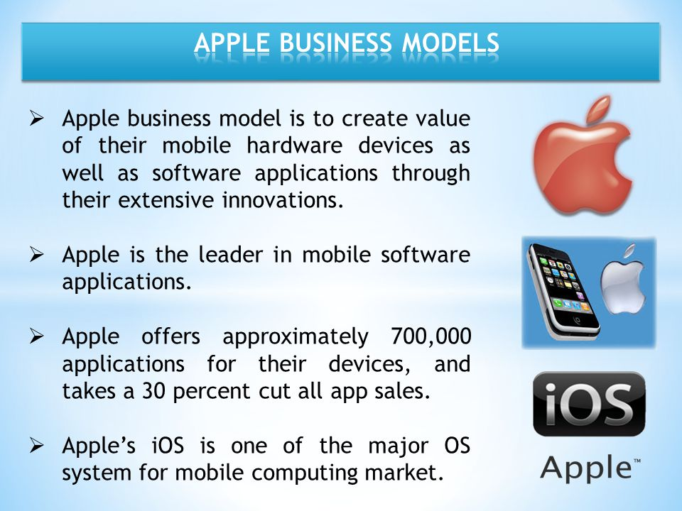 APPLE BUSINESS MODELS