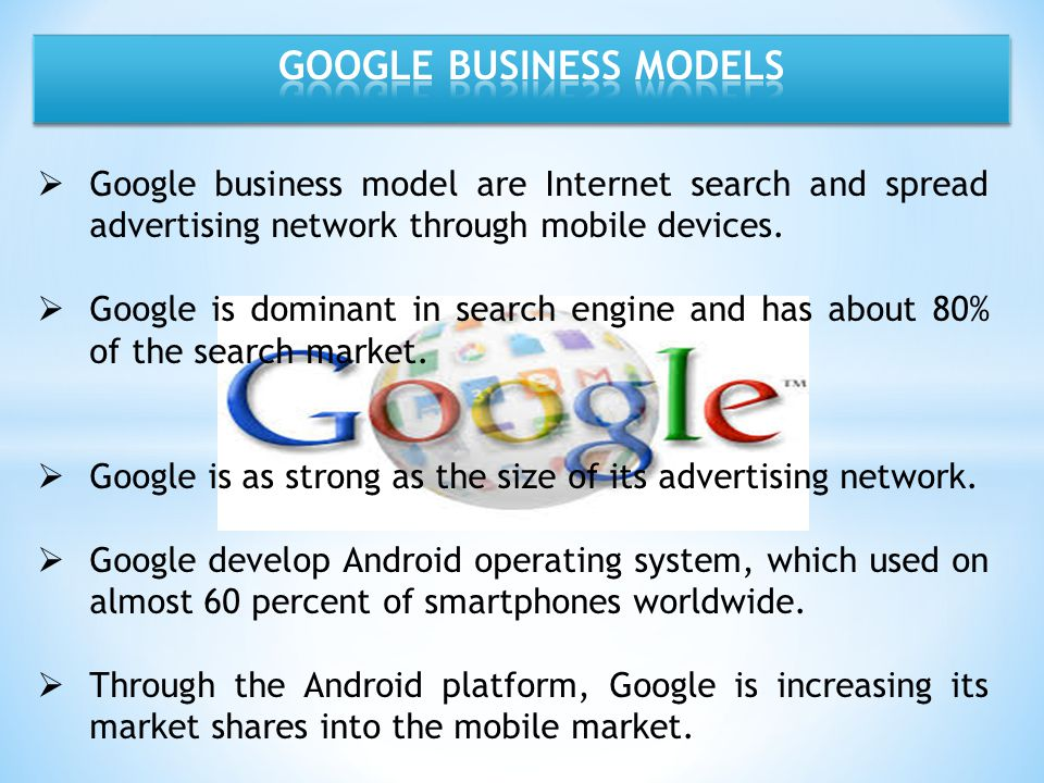 GOOGLE BUSINESS MODELS