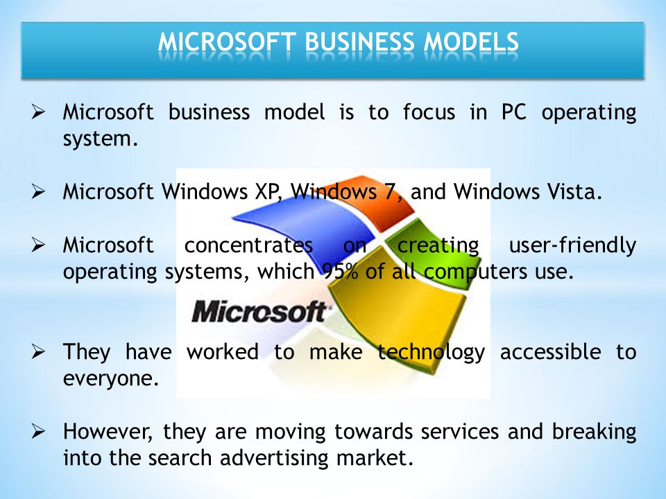 MICROSOFT BUSINESS MODELS