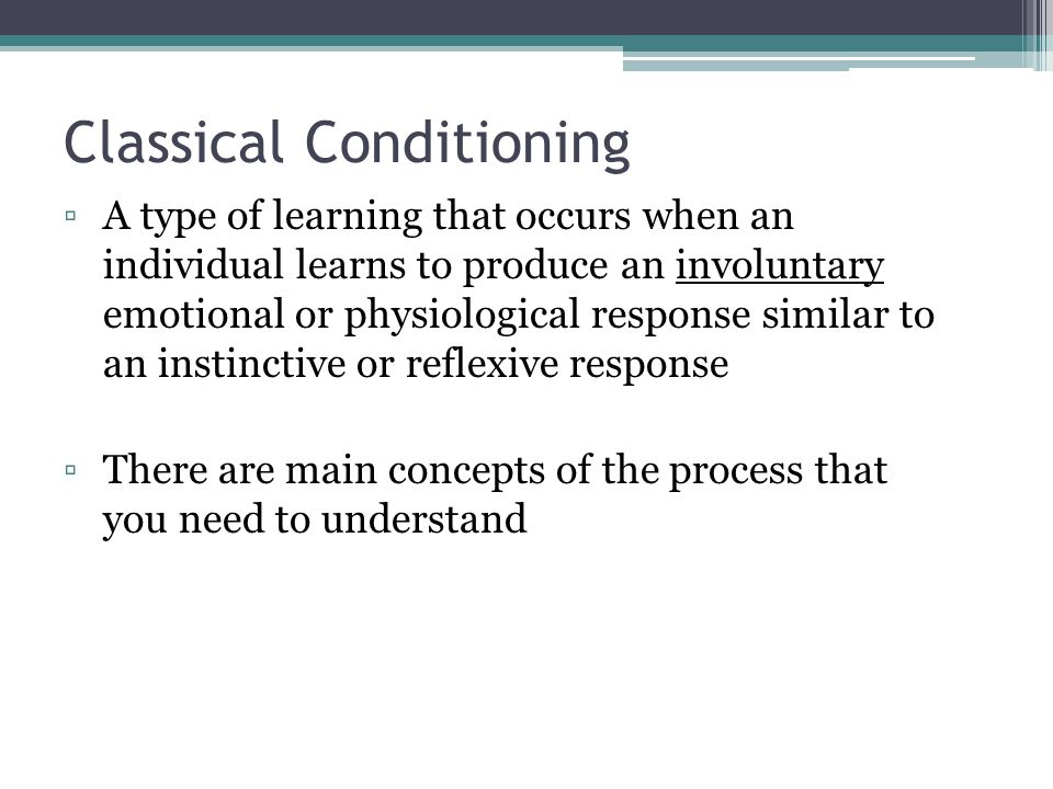 classical conditioning and behaviorism