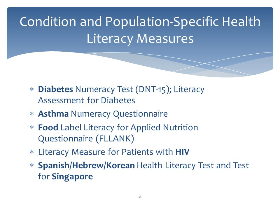Health Literacy Principles Measures Research Policy Ppt Download