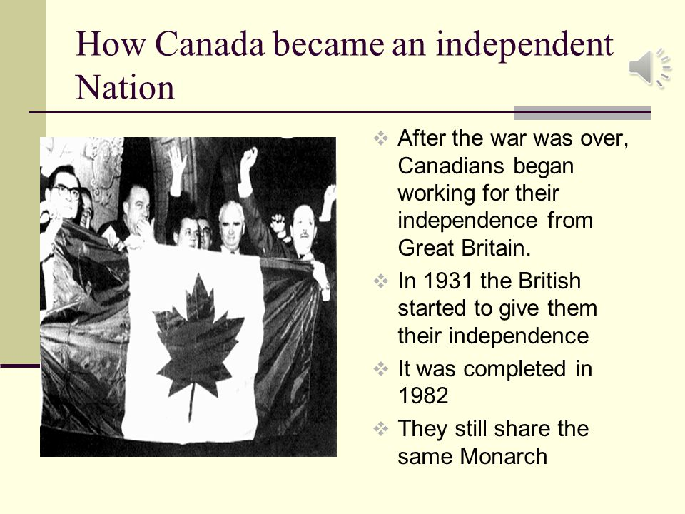 how canada remained independent of foreign control? essay By calling for a foreign policy independent of the united states, a stronger canadian identity emerged, and canada was made less dependant on the united states trudeau attempted to improve commercial relations with europe, and diversity trade.