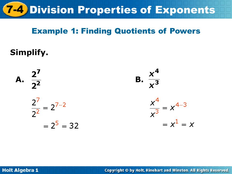 lesson 7-4 problem solving division properties of exponents answers
