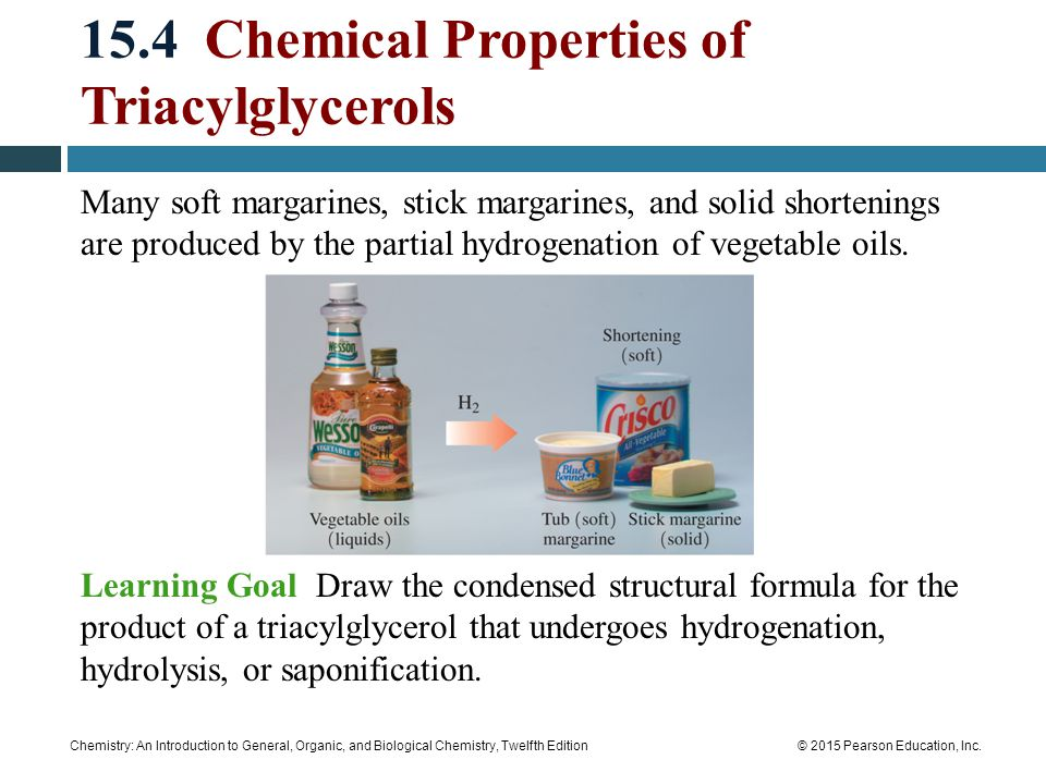 15.4 Chemical Properties of Triacylglycerols