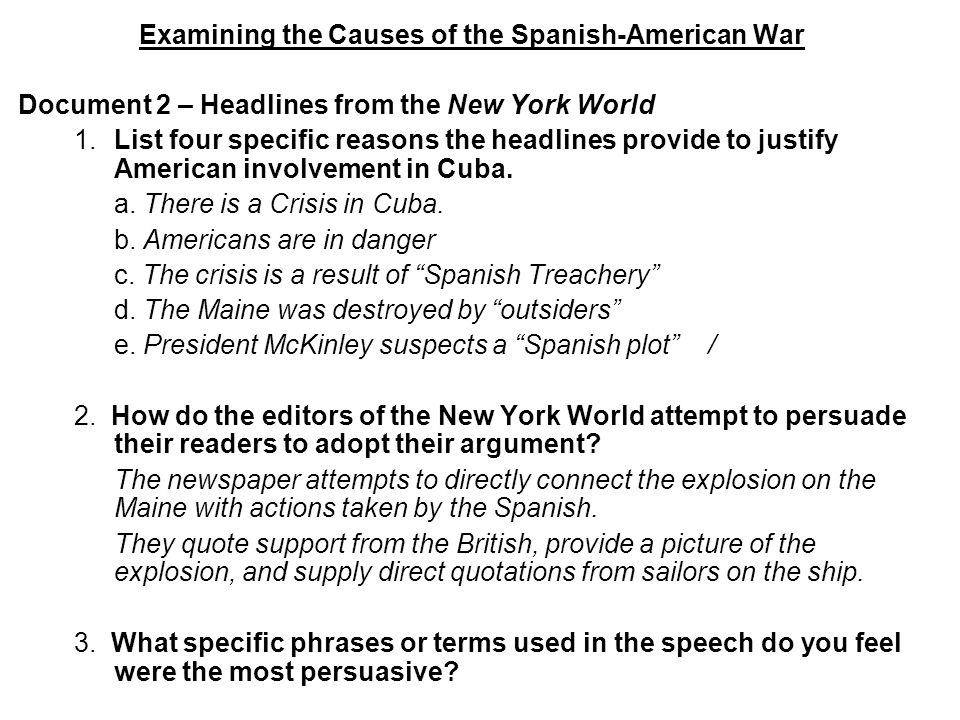 The Spanish American War Ppt Download