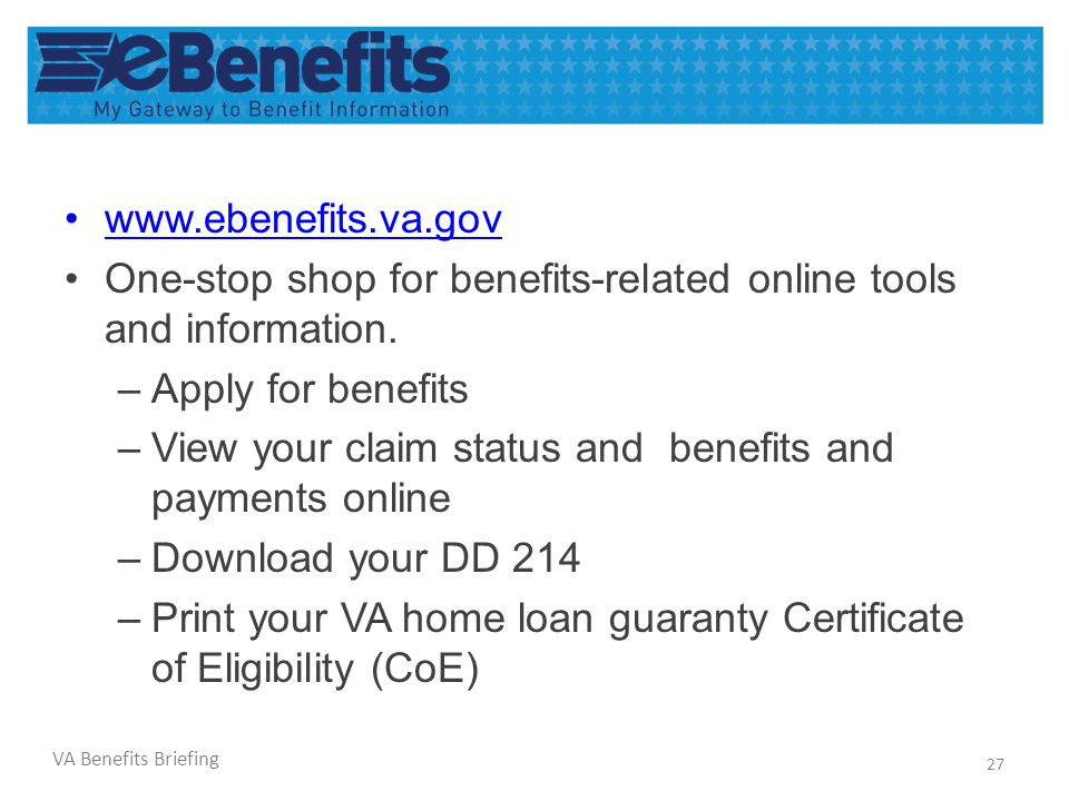 Online Va Home Loan Certificate Of Eligibility