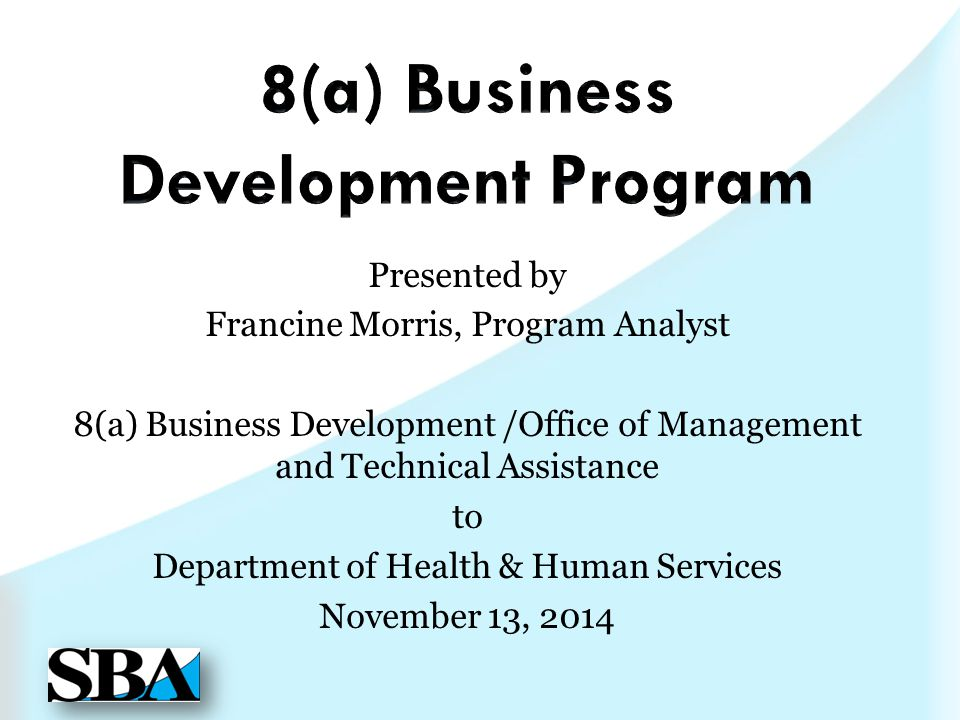 8(a) Business Development Program