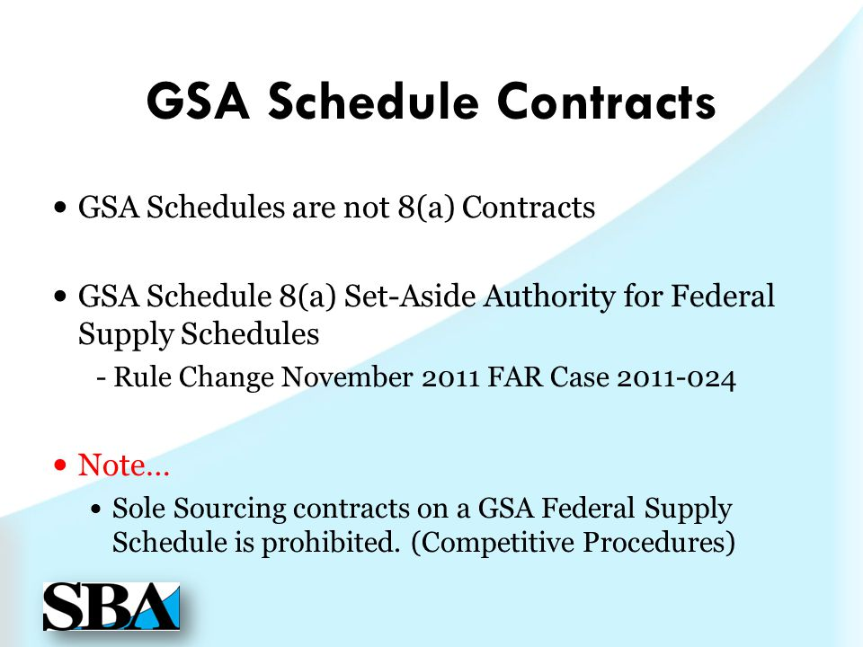 GSA Schedule Contracts