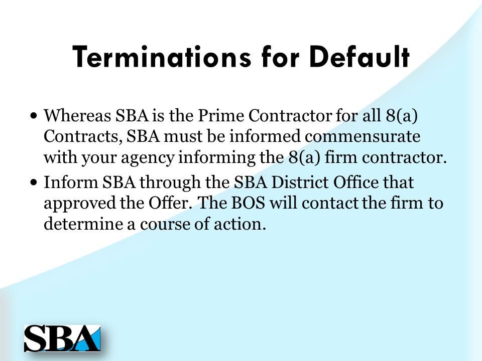 Terminations for Default