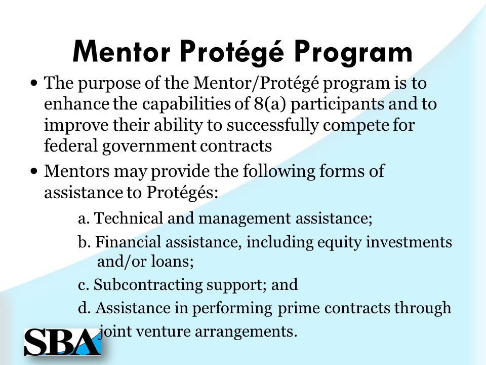 Mentor Protégé Program