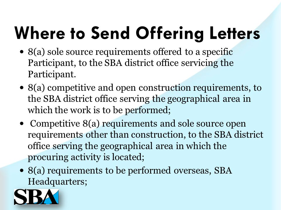 Where to Send Offering Letters