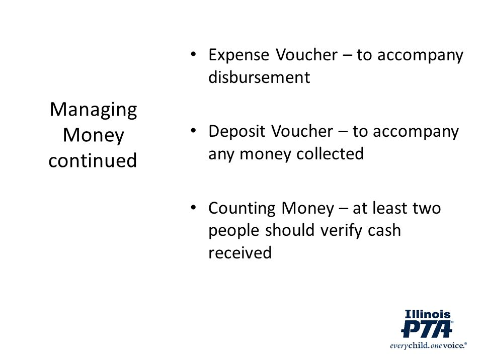 Managing Money continued