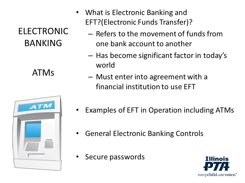 ELECTRONIC BANKING ATMs