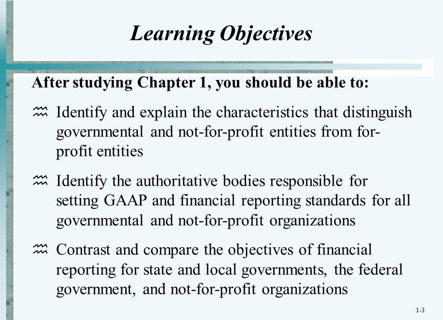 characteristics of governmental organizations
