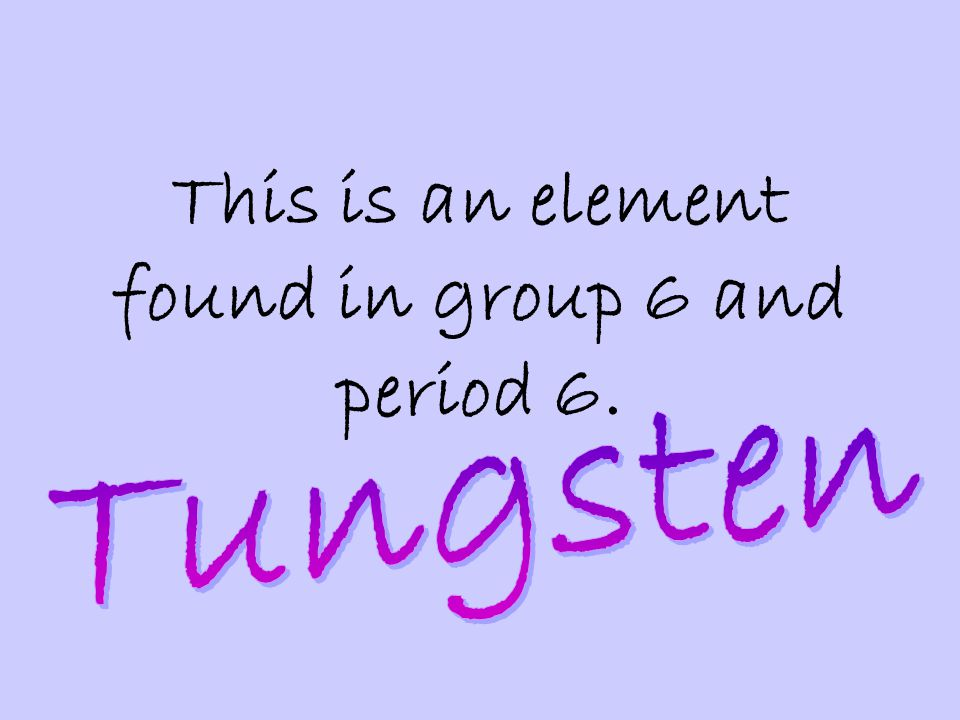 This is an element found in group 6 and period 6.