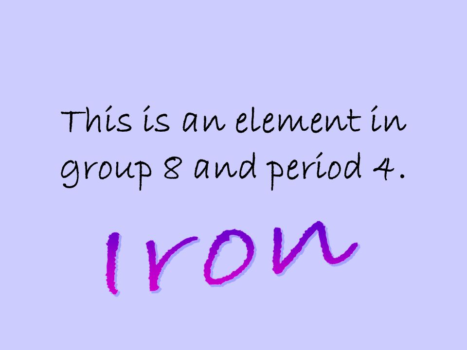 This is an element in group 8 and period 4.