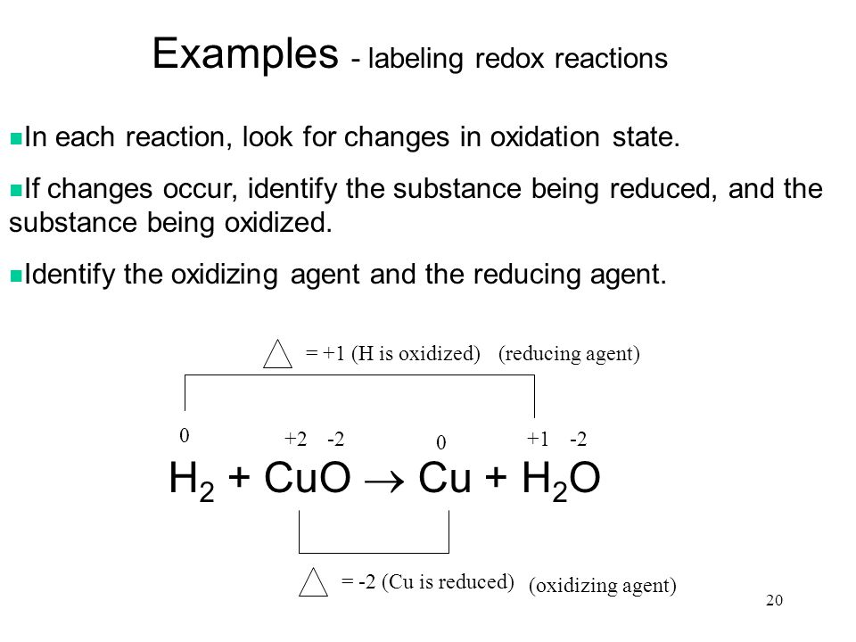Redox reaction example choice image example of resume for student.