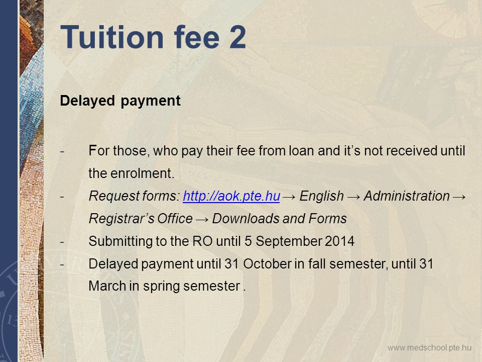 excuse letter for late payment of tuition fee