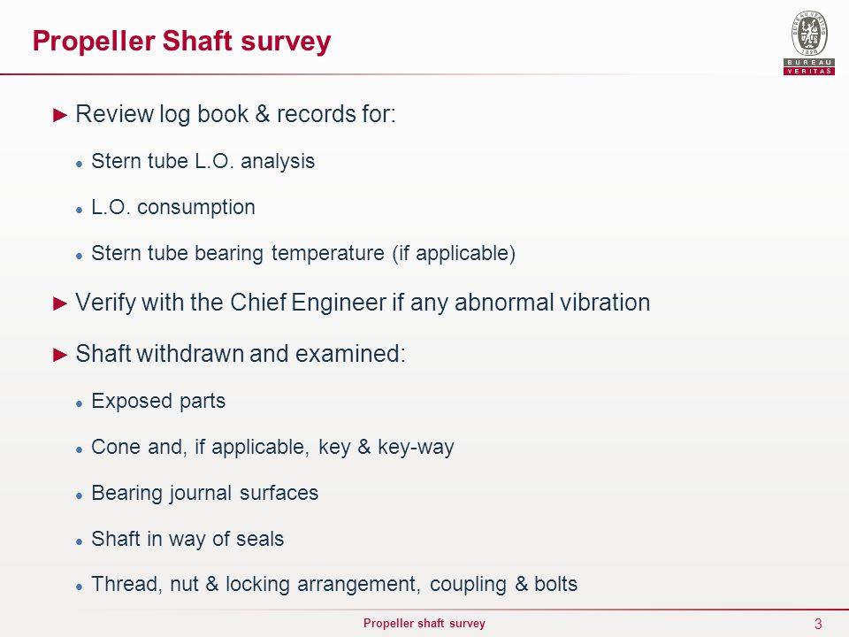 Propeller Shaft survey - ppt video online download