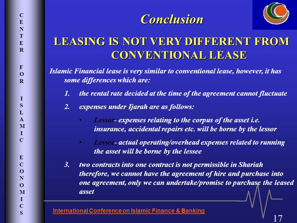LEASING IS NOT VERY DIFFERENT FROM CONVENTIONAL LEASE