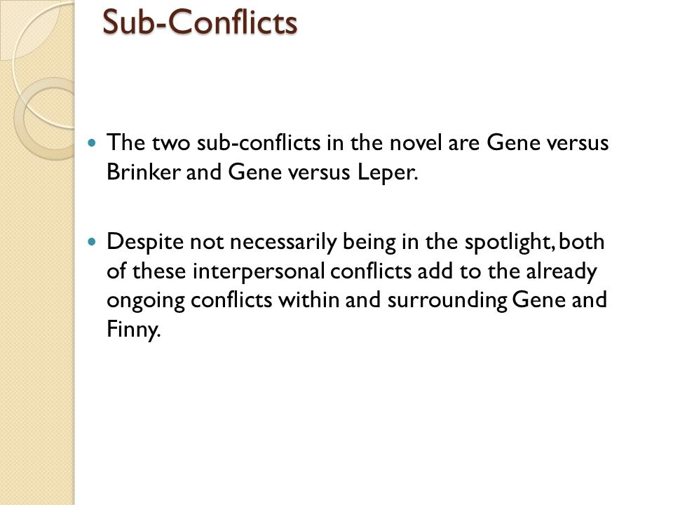 a separate peace conflict