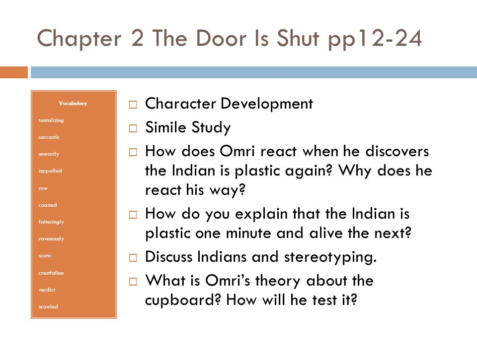 The Indian In The Cupboard Ppt Video Online Download