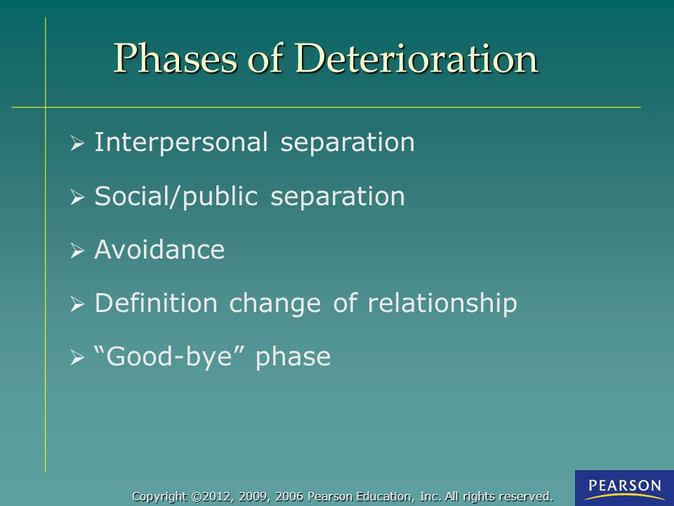 Phases of Deterioration