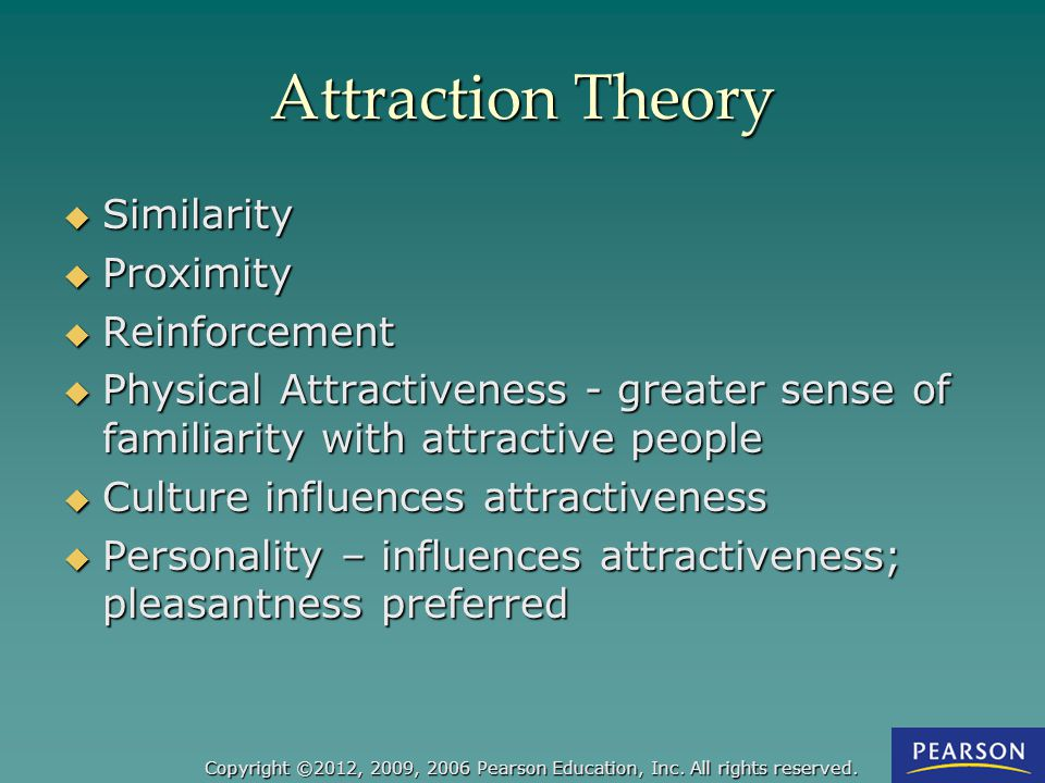 Attraction Theory Similarity Proximity Reinforcement