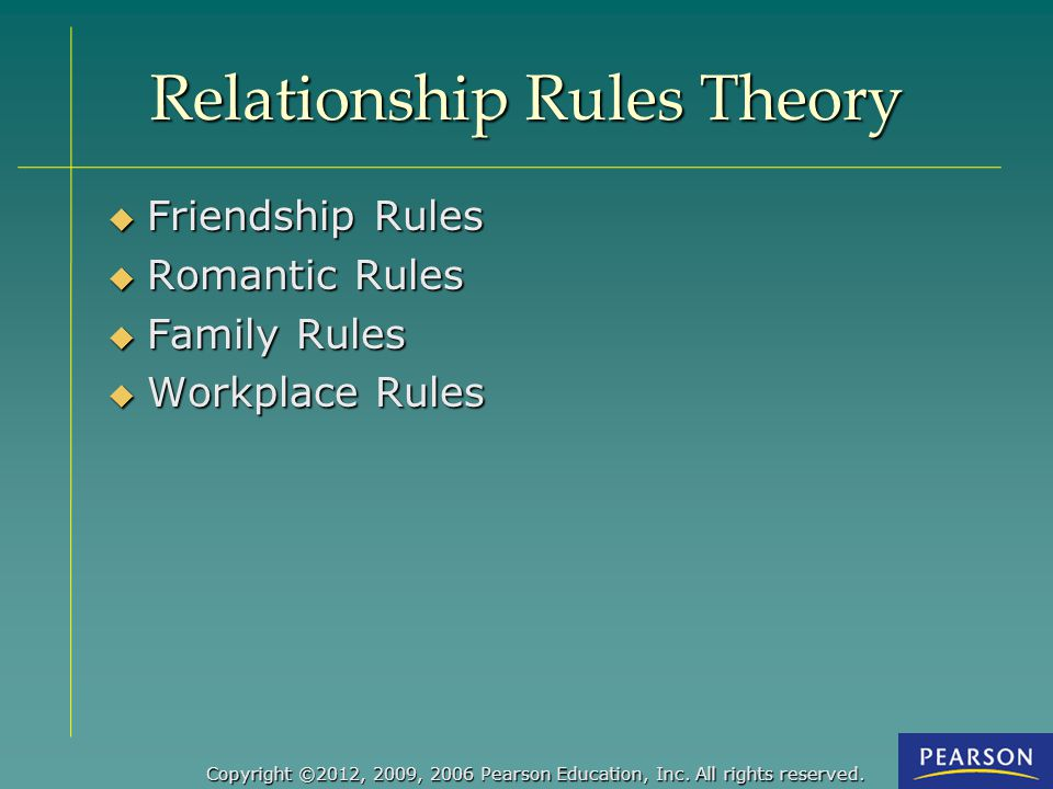 Relationship Rules Theory