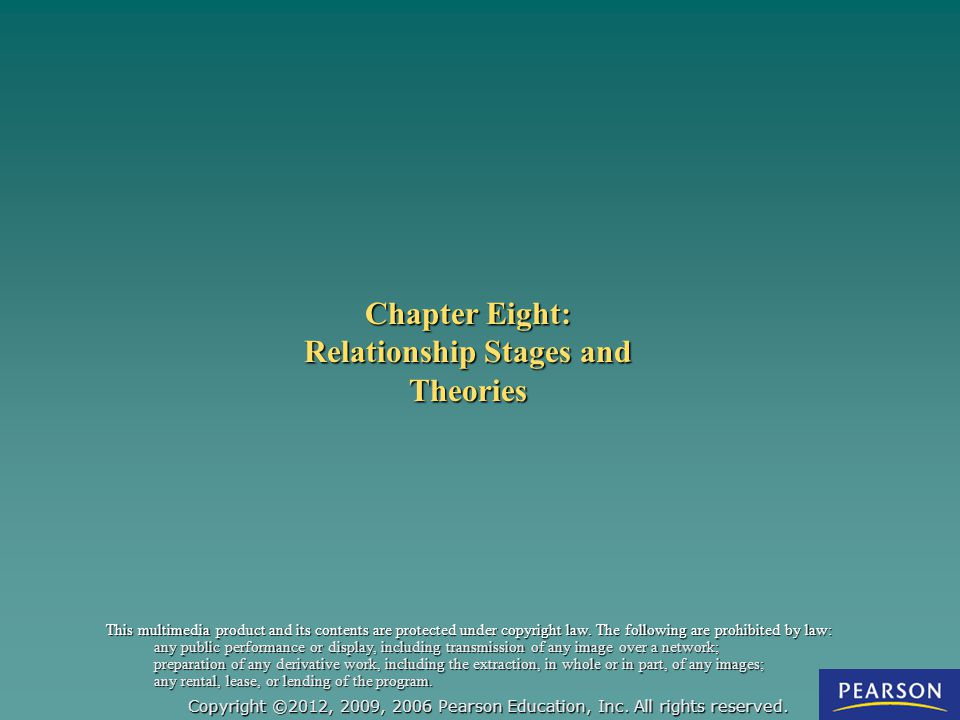 Chapter Eight: Relationship Stages and Theories