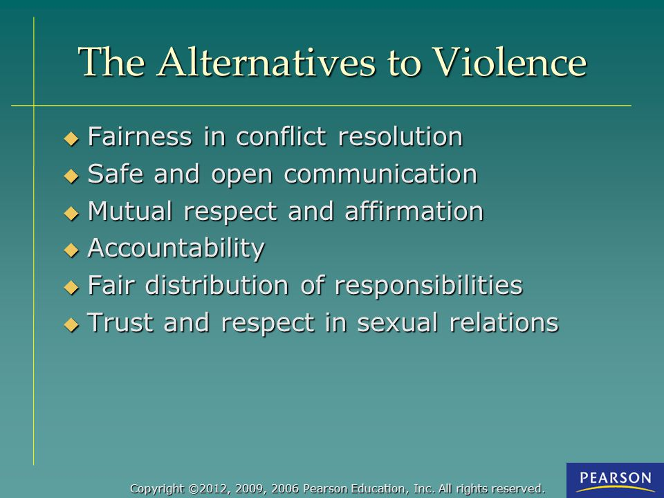 The Alternatives to Violence