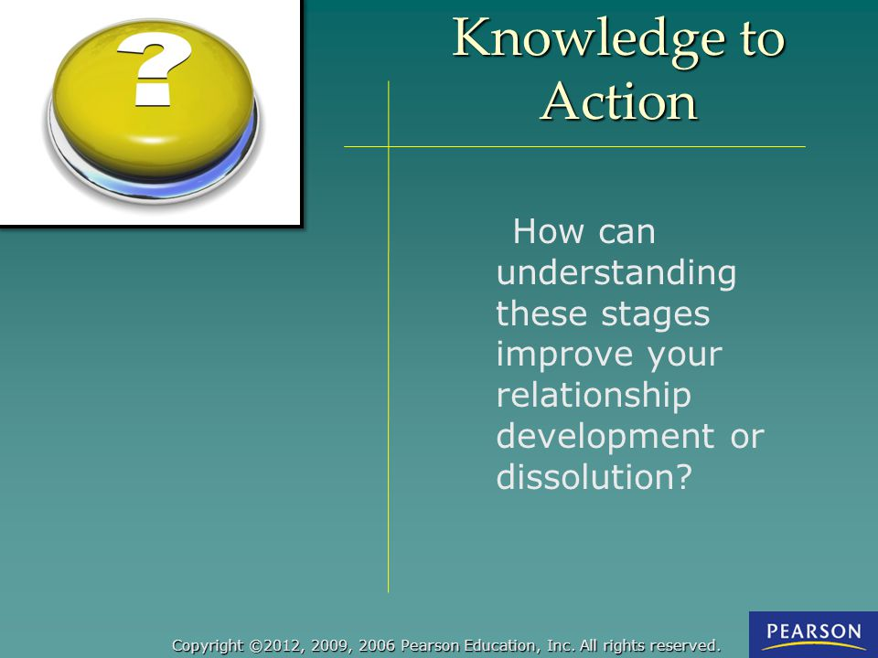 Knowledge to Action : How can understanding these stages improve your relationship development or dissolution