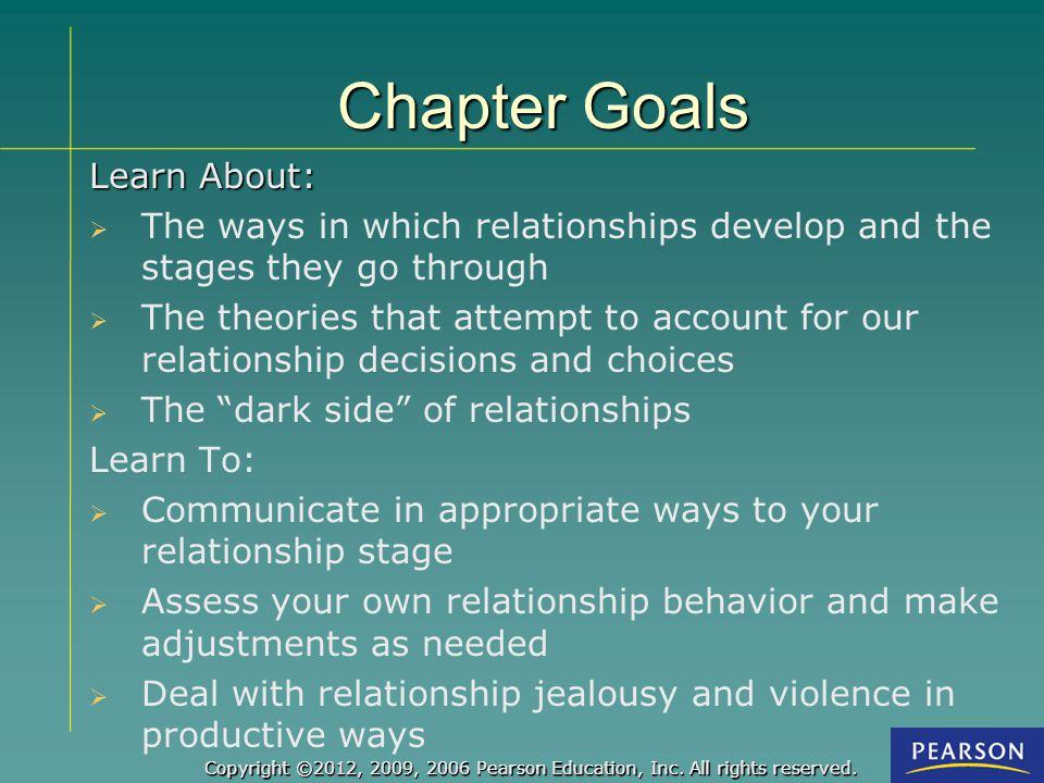 Chapter Goals Learn About: