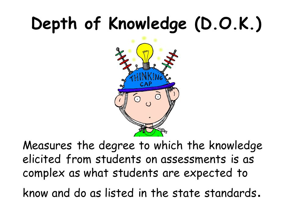 Depth of Knowledge (D.O.K.)