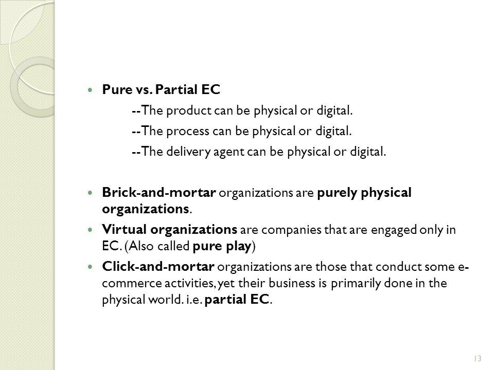compare brick and mortar and click and mortar organizations