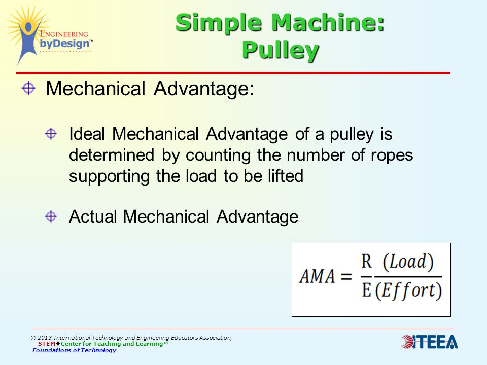 Foundations Of Technology Mechanical Advantage Ppt Download