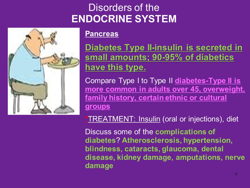 endocrine system diseases and disorders