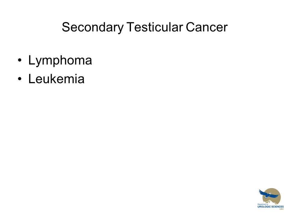 Secondary Testicular Cancer