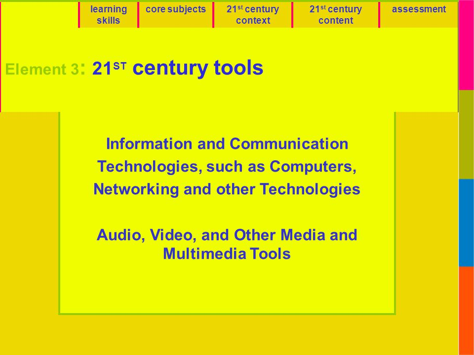 Element 3: 21ST century tools