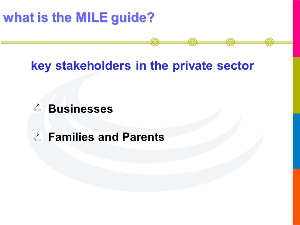 key stakeholders in the private sector
