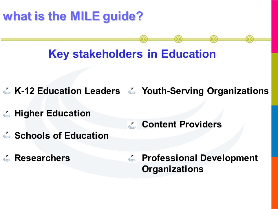 Key stakeholders in Education