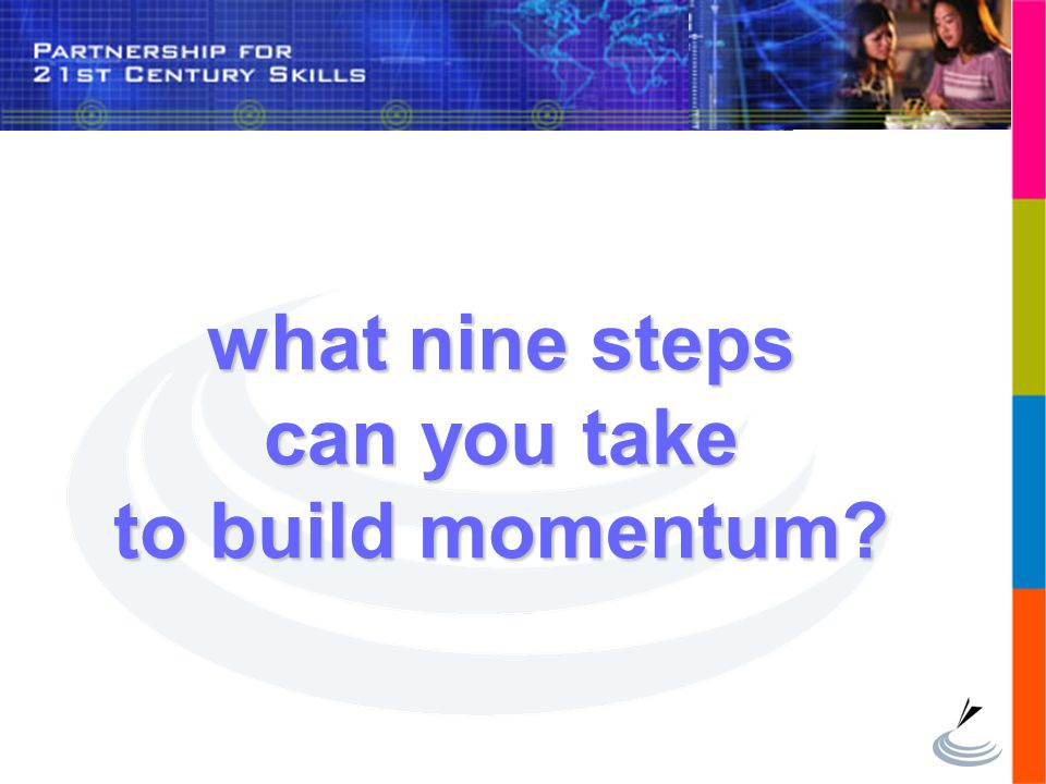 what nine steps can you take to build momentum