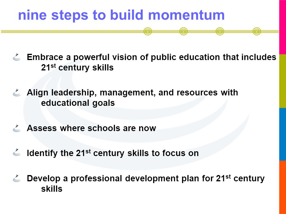 nine steps to build momentum